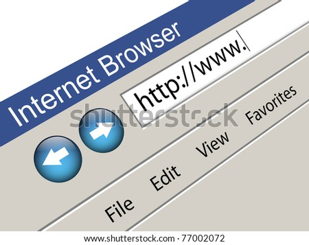 Internet Browser with Blank Web Address