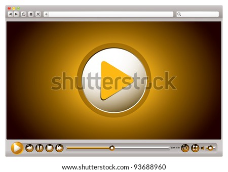Internet browsers with video controls and play back interface