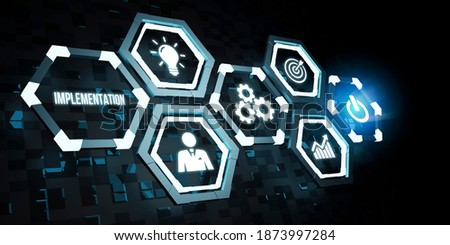 Internet, business, Technology and network concept. IMPLEMENTATION, web technology concept. 3d illustration Сток-фото ©