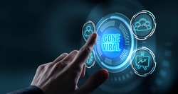 Internet, business, Technology and network concept.virtual reality glasses sees the inscription: Gone viral