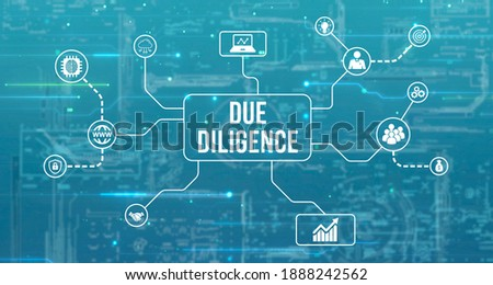 Internet, business, Technology and network concept.virtual screen of the future and sees the inscription: Due diligence. 3d illustration  Foto stock ©