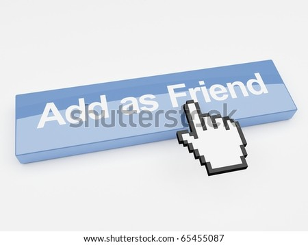Internet button add as friend social networking - stock photo