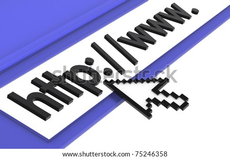 Internet Concept. Browser window, Blue