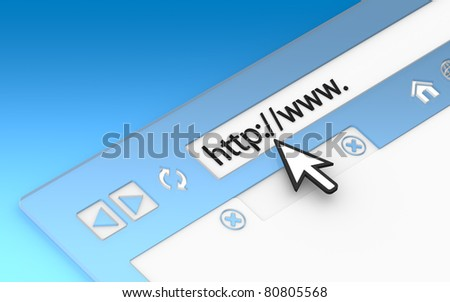 Internet Concept 2011. Browser Window. Transparent with blue background