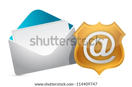 internet concept protection illustration design over white