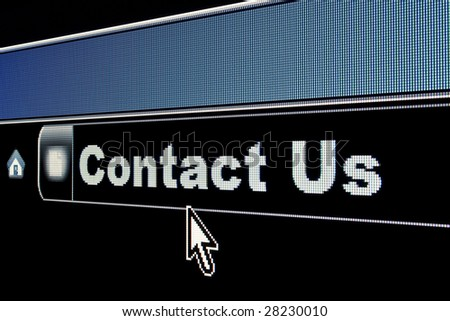 Internet Contact Us concept for a webpage