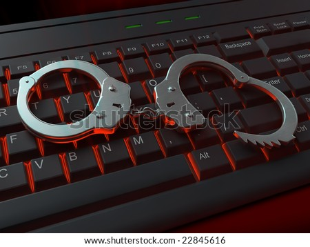 Internet crime illustration