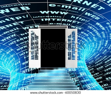 Internet - entrance in virtual world