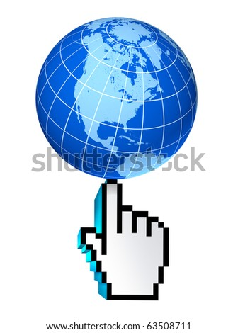 internet global North America Canada U.S.A Mexico web earth connections interactive touch symbol select world wide conected communications technology isolated