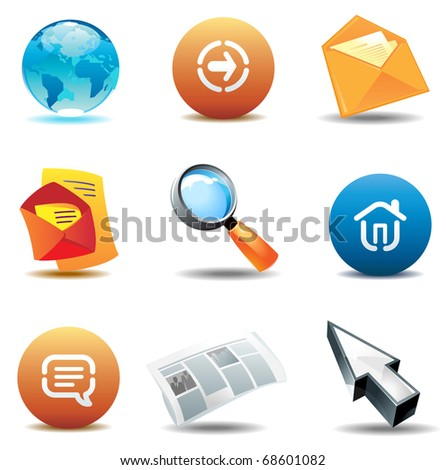 Internet icons: browsing. Raster version. Vector version is also available.