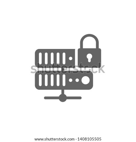 Internet lock, internet protection, internet safety, network, server security icon