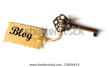 internet or web blog concept with old grunge key