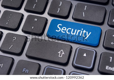 internet security for computer, with message on enter key of keyboard.