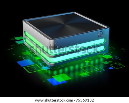 Internet server. Single frame
