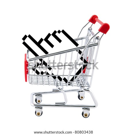 Internet shopping. Clipping path included.