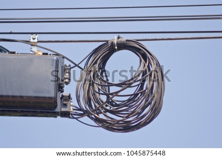 Pleasing Electricity Cable Telephone Wire And Fiber Optic Wire Of Internet Wiring 101 Capemaxxcnl
