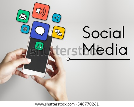 Internet Social Media Network Digital  #548770261