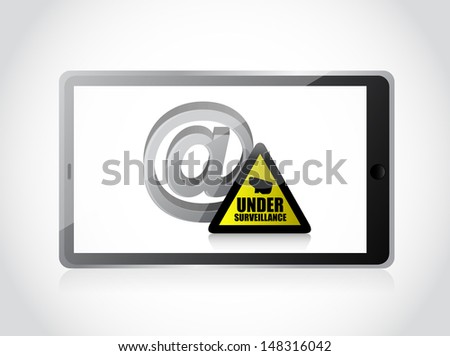 internet surveillance illustration design over a white background