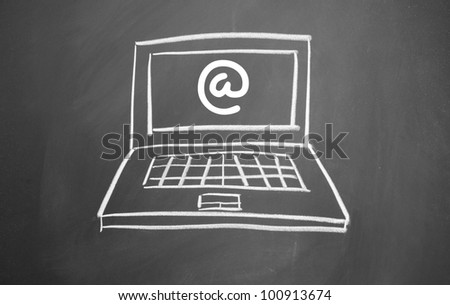 internet symbol and Portable computer