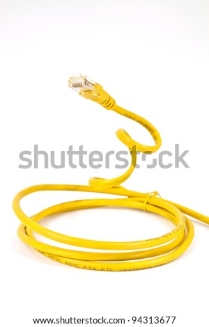 Internet Yellow cable to connect to the global network