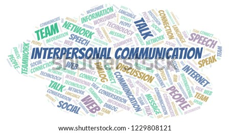Interpersonal Communication word cloud.