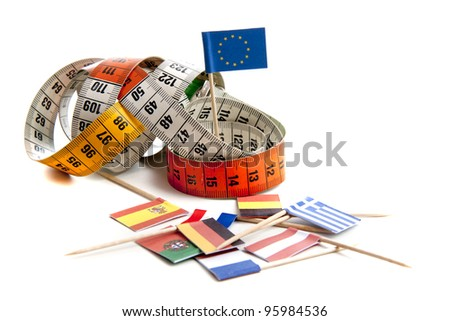 Interpretation of the world wide economical crisis on a white background