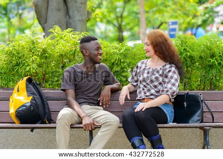 Interracial couple