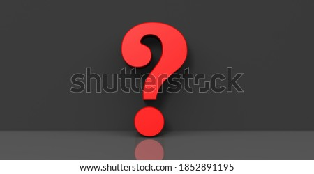 Interrogation point question mark red sign query symbol asking punctuation mark icon 3d rendering Foto stock ©