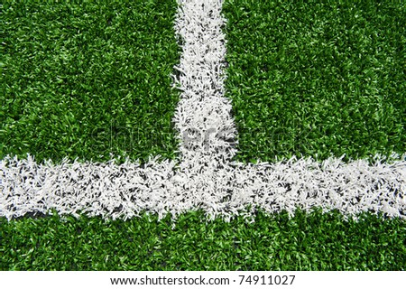Intersecting lines on a field of play.