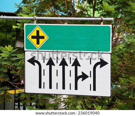 intersection sign board  #236019040