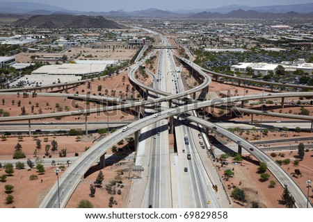 Interstate 17 and Loop 101 Freeway Interchange
