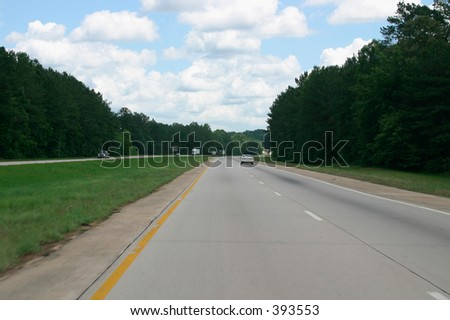 Interstate Highway in Georgia, USA
