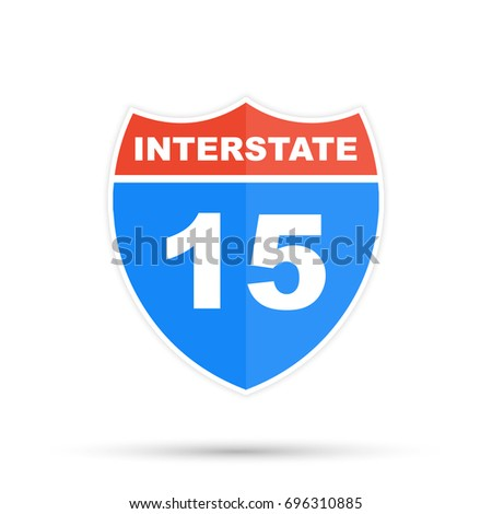 Interstate highway 15 road sign