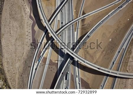 Interstate ten and nineteen interchange in Tucson