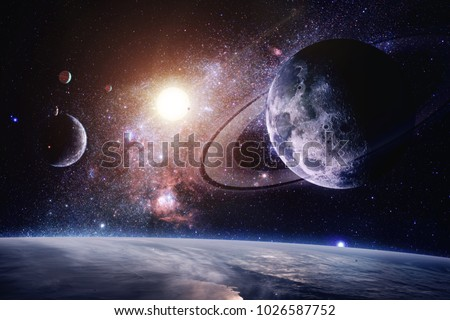 Interstellar - Elements of this Image Furnished by NASA