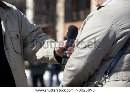 Interview for the press - stock photo