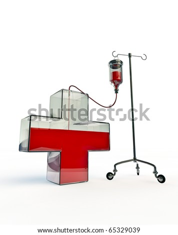 Intravenous drip for red cross