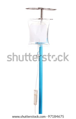 Intravenous therapy isolated on white