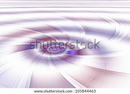 Intricate pink and purple abstract spiral storm on white background