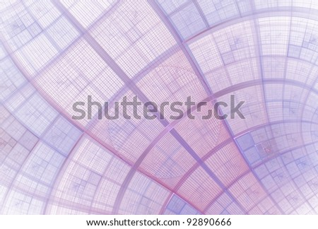 Intricate pink, purple and blue woven patchwork fabric on white background