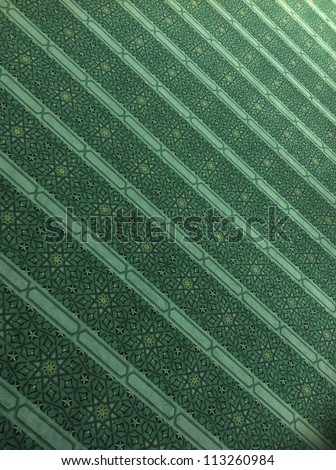 Intricate praying mat in a mosque