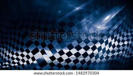 Intriguing abstract image on the subject of speed, racing, sports, championships, competitions