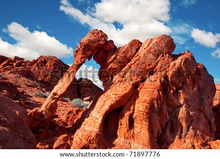 Intriguing sandstone formation in Valley of Fire State Park, Nevada.