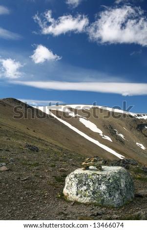 Inukshuk at Mount Whistler, Canada