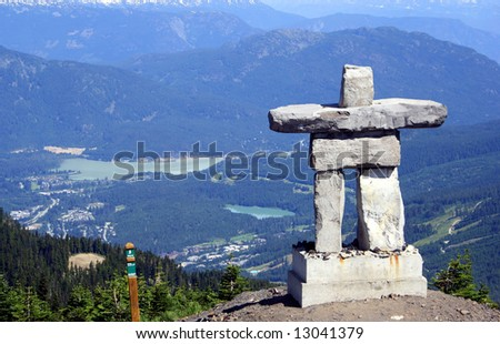 Inukshuk at Mt Whistler, Canada