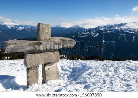 Inukshuk on top of Whistler Mountain