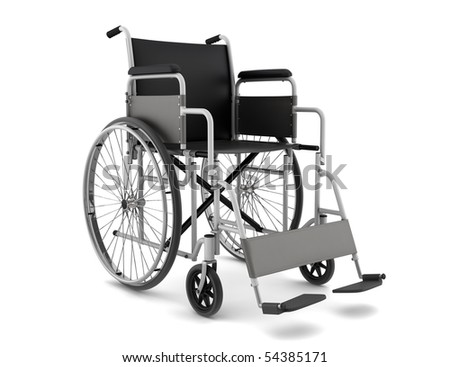 invalid chair isolated on white background with clipping path