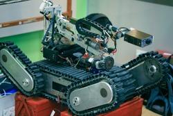 Invented rescue robot.