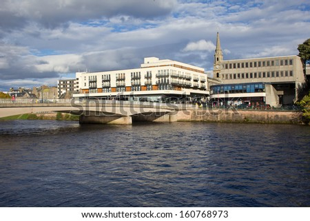 INVERNESS, SCOTLAND - OCTOBER 26: Inverness, Capital of the Highlands on October 26, 2013 in Inverness, Scotland