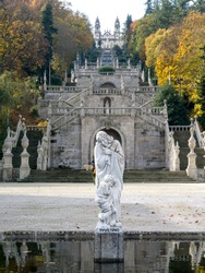 Inverno statue at Shrine of Our Lady of Remedies, Lamego, Viseu District, Northern Portugal, Portugal